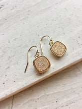 Druzy Square Earrings — Champagne