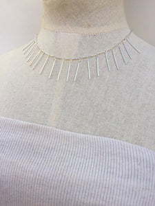 Fringe Necklace, silver