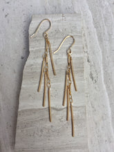 Fringe Earrings, gold