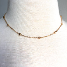JPeace Designs Gold bead & chain necklace