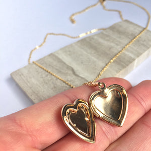 Heart Locket — Gold Necklace