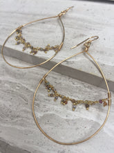 Hoop and Fringe Earrings, gold  — Sapphire