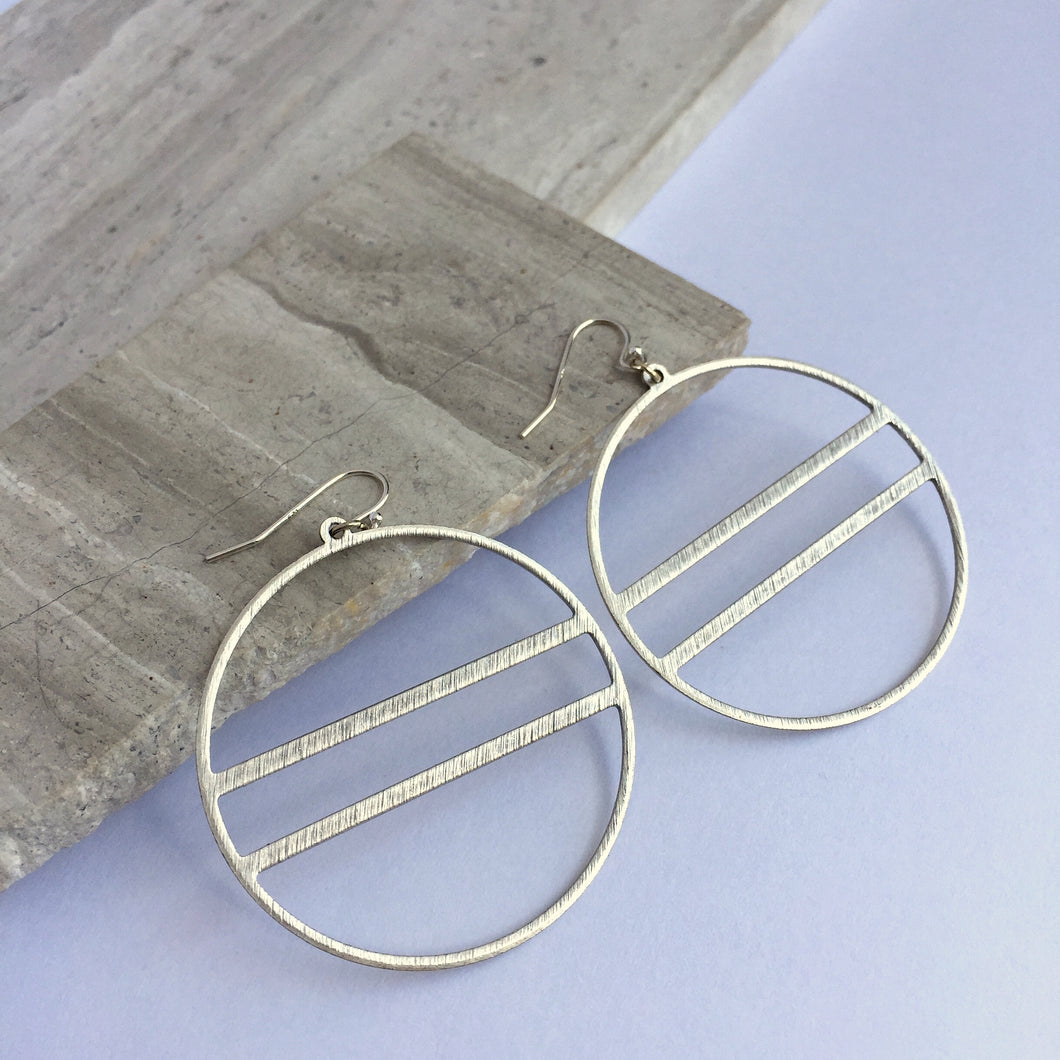 Sterling silver Modern Hoop Earrings