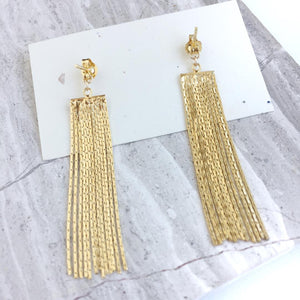 Evil Eye Studs w/ chain tassel back earrings, Back