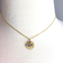 Evil Eye & Gold Disk Necklace