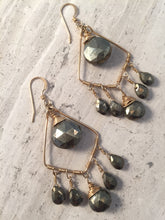 Handmade Pyrite (fool's gold) Chandelier Earrings