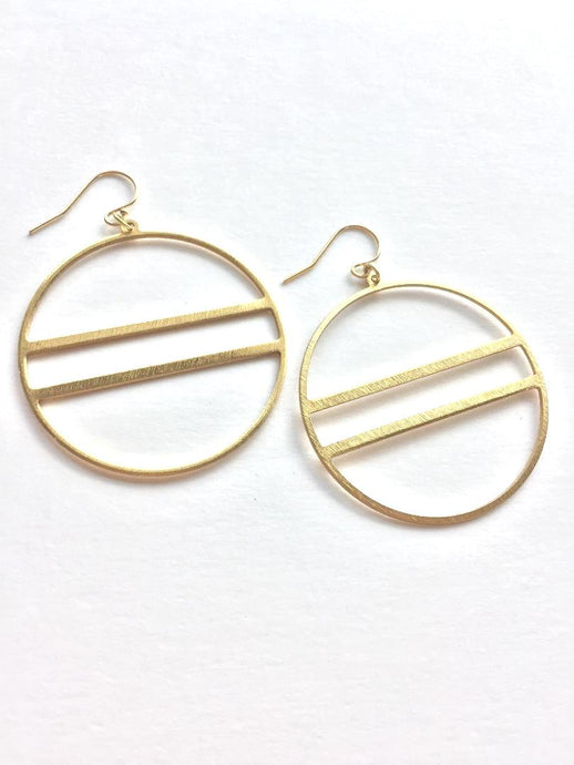 Modern hoop Earrings, JPeace Designs