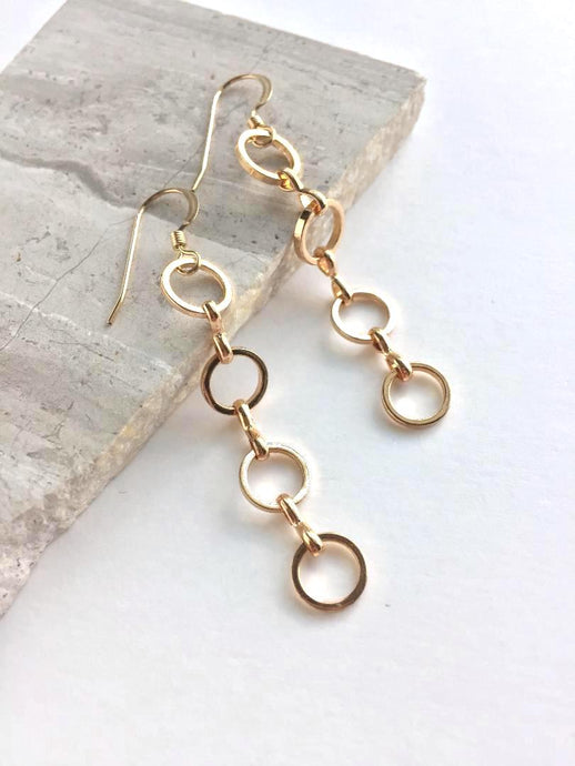 Golden Rings Earrings