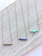 Janie Necklace: pyrite, lapis, amazonite on gold chain