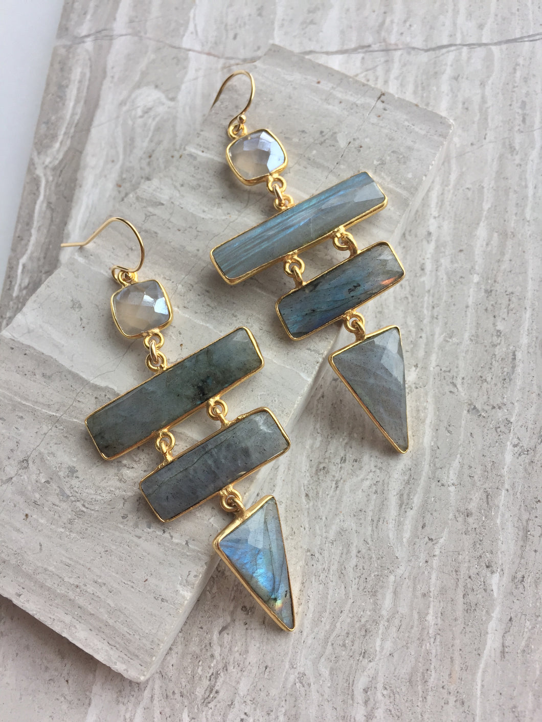 Labradorite Ladder Earrings