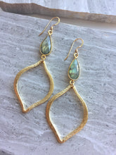 Labradorite Tulip Earrings