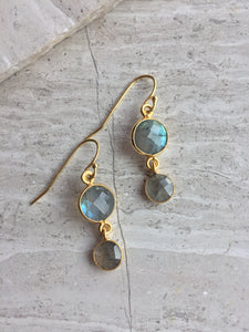 Labradorite Lentil earrings