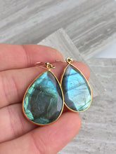Reflection Earrings — Labradorite, in hand