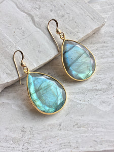 Reflection Earrings — Labradorite