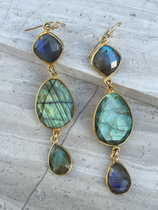 Labradorite Stone Earrings