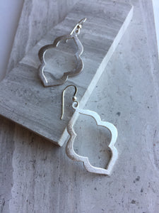 Lantern Earrings, silver, medium size