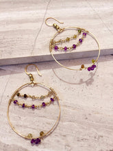 Mardi Gras Hoop Earrings, gold