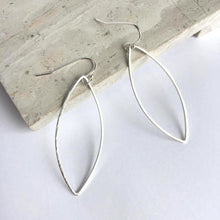 Marquise Silver hoop Earrings