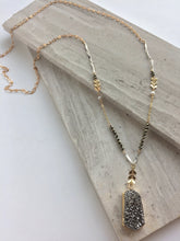 Mix Metals and Pyrite Necklace — Silver Druzy