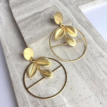 Mother Nature Gold Hoop Earrings