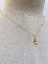 Opal Charm Necklace, on mannequin