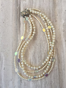 Pearl Collar Necklace, twisted