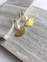 Pearl Sailboat Earrings, gold