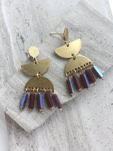 Purple Fringe Post Earrings
