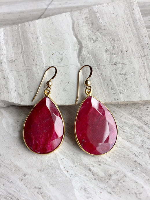 Reflection Earrings — Ruby