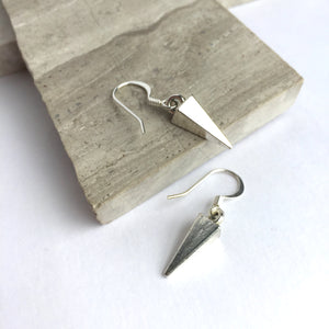 Silver small Spike Earrings