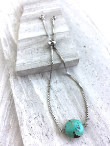 Adjustable Chain Bracelet — Turquoise