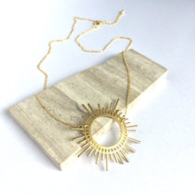 Gold Sunburst Necklace