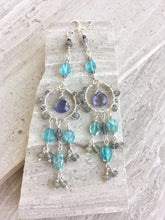 Water Goddess Earrings, on tile