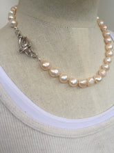 Big Pearl Barbara Necklace, sterling silver bird clasp