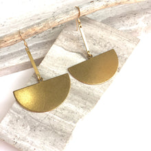 Brass bar Half circle Earrings