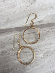 Coiled Hoop Earrings, gold