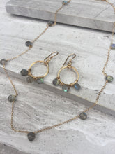 Coiled Hoop Wreath Earrings— Labradorite necklace