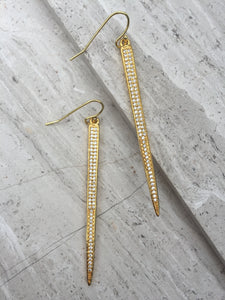 CZ Spike Earrings gold