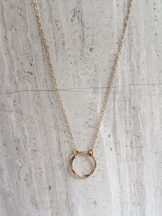Tiny Karma Necklace Gold