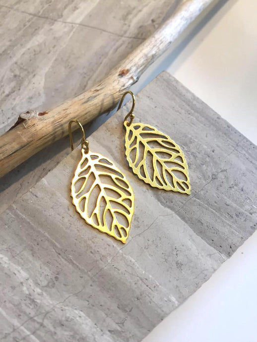 Leaf cut out Earrings — Small