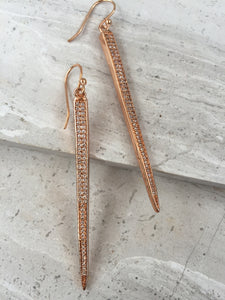 CZ Spike Earrings