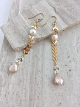 Two-tone Moonstone Earrings