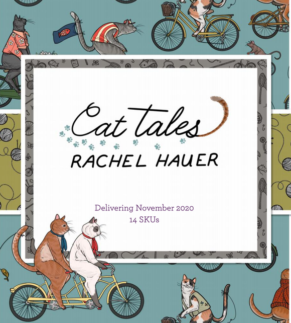 Cat Tales by Rachel Hauer for FreeSpirit Fabrics