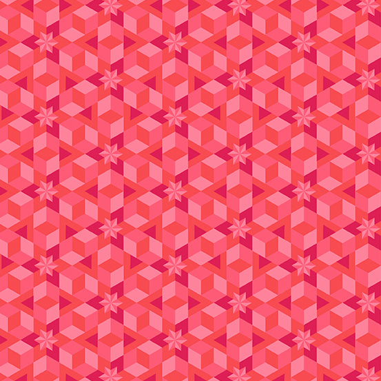 Starfish in Coral from Diving Board by Alison Glass for Andover Fabrics