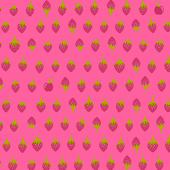 Apples in Sharp from Road Trip by Alison Glass for Andover Fabrics