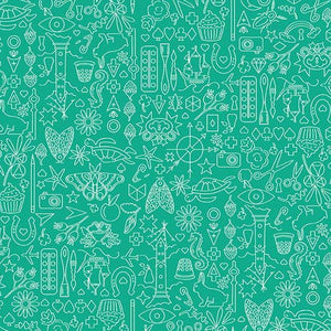 Collection in Turtle from Sun Print 2019 by Alison Glass for Andover Fabrics