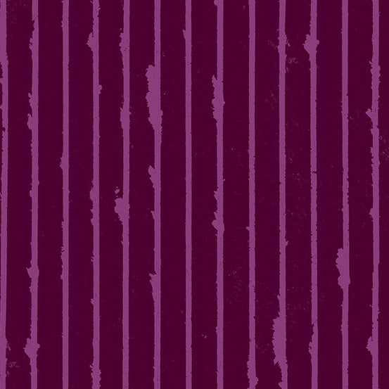 Striped in Mulled Wine by Giucy Giuce for Andover Fabrics