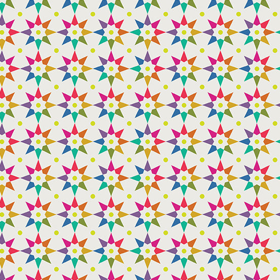 Rainbow Star in Light from Art Theory by Alison Glass for Andover Fabrics