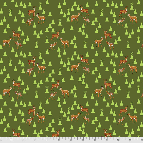 June 50% Deposit/Preorder- Flannel Road Trip in Pine Fresh from Holiday Homies Flannel by Tula Pink for Freespirit Fabrics