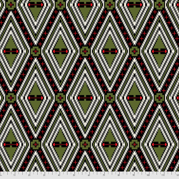 June 50% Deposit/Preorder- Flannel Family Tree in Pine Fresh from Holiday Homies Flannel by Tula Pink for Freespirit Fabrics